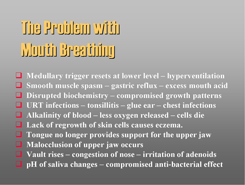 Mouth-breathing, malocclusion and the restoration of nasal breathing (6/6)
